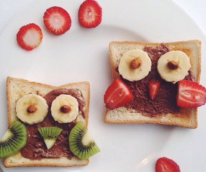 banana, bread, and food image