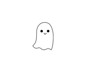 ghost, boo!, and cute image