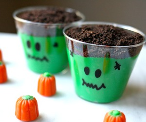 Halloween, pudding, and cute image