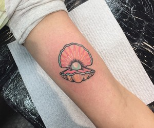 tattoo, pearl, and pink image