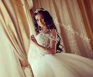 Dream, dress, and white image
