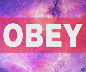 background, obey, and space image