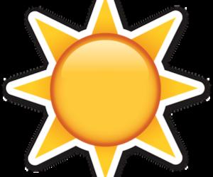 emoji, sun, and png image