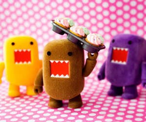 cute, domo, and cupcake image