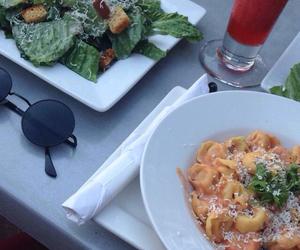 food, pasta, and daiquiri image