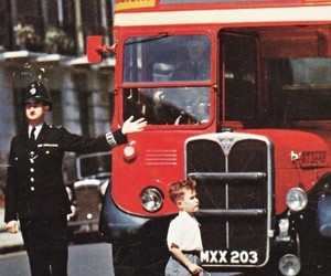 london, bus, and boy image