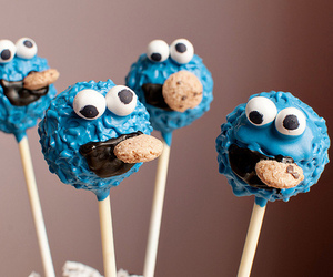 food, blue, and cookie monster image