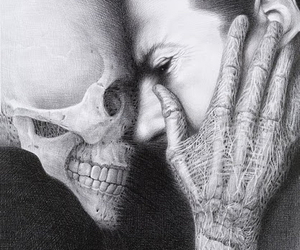 art, laurie lipton, and skull image