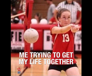 funny, volleyball, and lol image