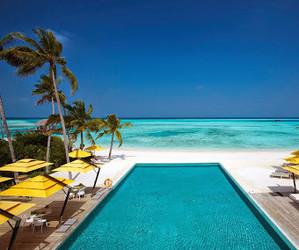 beach, paradise, and sky image