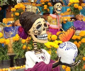 day of the dead, mexico, and dia de muertos image
