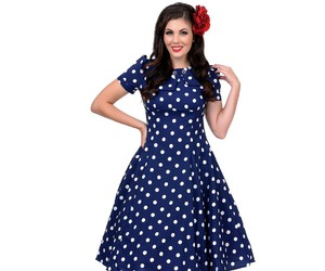 cute dress, polka dots, and vintage dress image