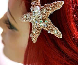 ariel, beauty, and red hair image