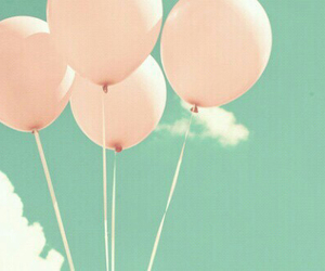 balloons, imagination, and pink image