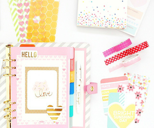 agenda, planner, and decorated image