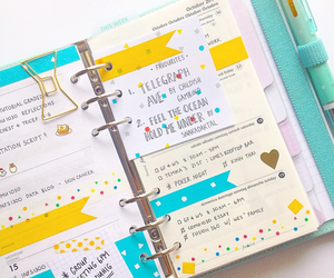agenda, decorated, and journal image