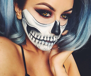 colorful, hair, and Halloween image