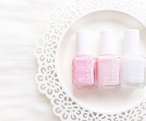 pink, essie, and nails image
