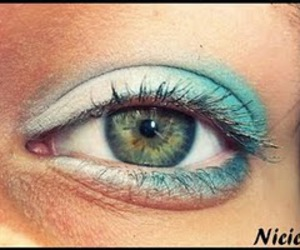 blue, makeup, and eye image