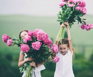 child, flowers, and girl image