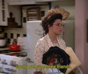 seinfeld, ugh, and friends image