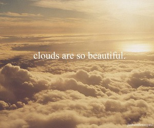 beautiful, clouds, and typography image