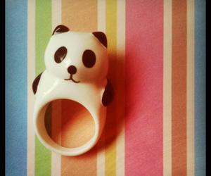 colourful, panda, and ring image