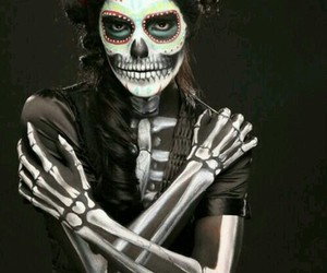 Halloween, make up, and skull image