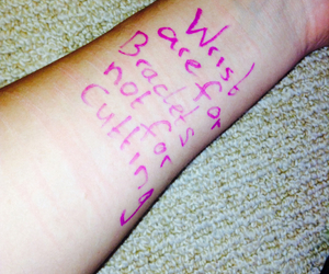 stop bullying and stop self harm. image