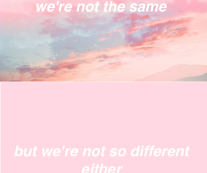 quote, pink, and same image
