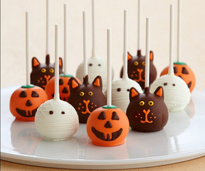 Halloween, cake, and cat image