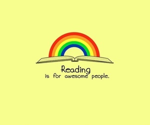 awesome, book, and rainbow image