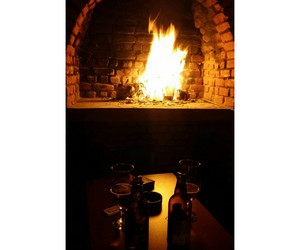 beer, fireplace, and fire image