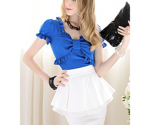 fashion sexy tops, msfairy.com#, and fancy chiffon tops image