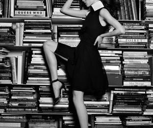 book, black and white, and fashion image