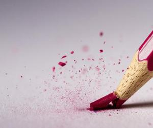 pencil, red, and broken image