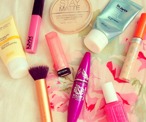 makeup, girly, and pink image