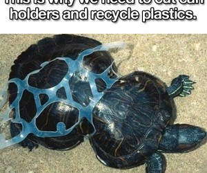plastic, pollution, and sad image
