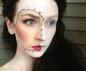 face, half, and Halloween image