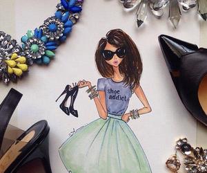 art, fashion, and draw image