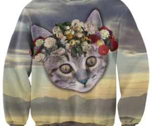 cat, crazy, and fashion image