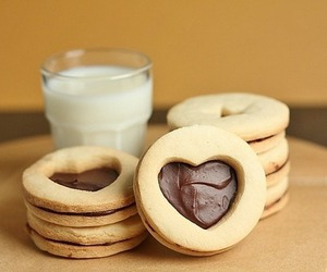 milk, chocolate, and Cookies image