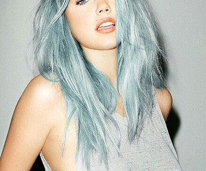 beautiful, blue eyes, and blue hair image