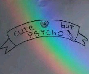 cute, Psycho, and grunge image