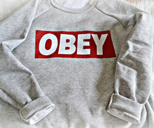 obey, outfit, and grey image