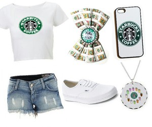 starbucks white outfit image