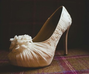 heels, shoes, and rose image