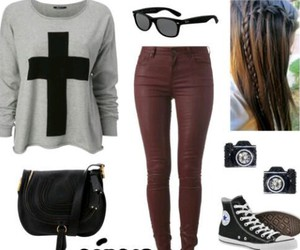 fashion, outfit, and rock image