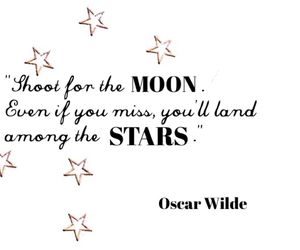 moon, oscar wilde, and quote image