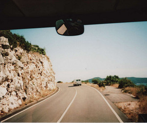 car, road, and window image